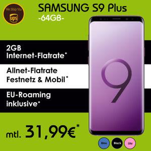 Samsung Galaxy S9 Plus Handy Im Vodafone Allnet Flat Vertrag Nur 31