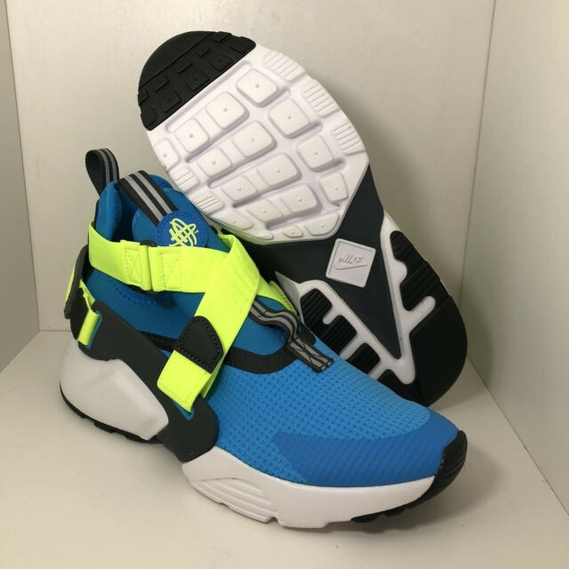 Size 7y Nike Huarache City Blue Neon