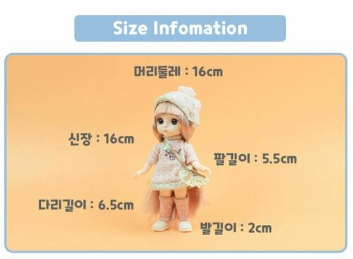 Sariel Celebrities Aurora Mini Ball Jointed Doll 16cm Toys Barbie SING-SING-GIRL