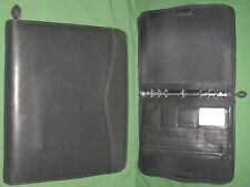 Folio 10 Black Leather Day Timer Planner 85x11 Monarch Franklin Covey 308