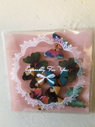 Pack environ 20.32 cm Embellissements Artisanat En Bois Coloré Papillons X 8 In ART