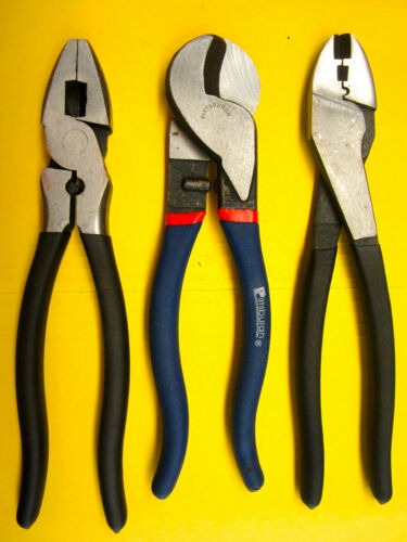 LINEMANS PLIERS AND CRIMPING TOOL /& 10 IN FAST SHIP BRAND NEW CABLE CUTTER