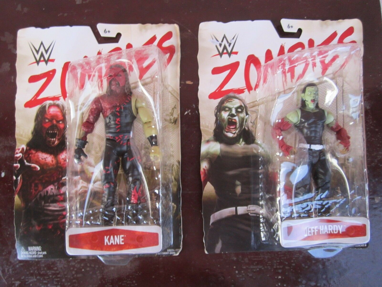 2 WWE Zombies  kane kane kane and Jeff Hardy  brand new action figures for sale    f8acb5