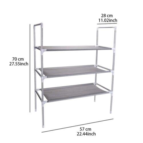 3//4 Tier Mobile Kitchen Trolley Cart Handle Slim Rolling Storage Rack W// Wheels