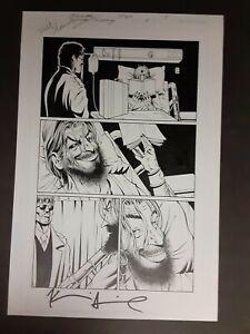 Original Comic Art - Batman Joker Cacophony #3 pg 19 signed  Smith & Flanagan