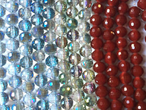 Blue Green Chinese Crystal Faceted Round Glass Beads 14mm Q2 Strands
