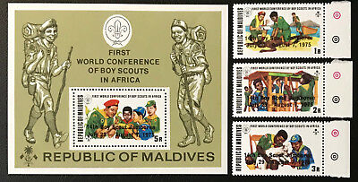 Malediven 1975** Pfadfinder Scouts überdruck 14th World Boy Scouts Jamboree Be Friendly In Use Organizations Topical Stamps