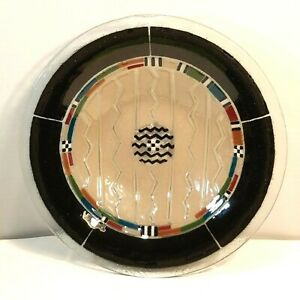 Peggy-Karr-Fused-Art-Glass-Southwestern-Design-Bowl-13-Inches