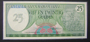 Suriname-25-GULDEN-1985-P-127b-UNC