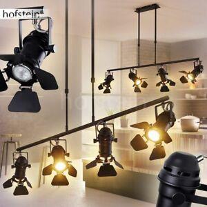 4-flammige Ess Wohn Schlaf Zimmer Beleuchtung schwarz Hänge Lampe Pendel Leuchte