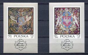 36085) Poland 1970 MNH Wawel Castle Carpets S/S x2