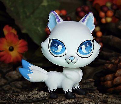 littlest pet shop 3 tailed tails snow wolf spirit ooak custom figure lps guardia