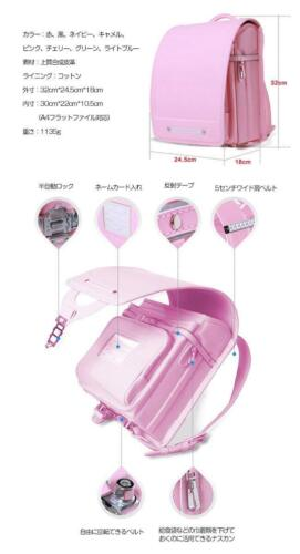 Qwawa Japanese school bag Randoseru color Pink cute Backpacks NEW From Japan