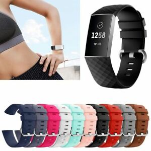 Details about For Fitbit Charge 3 Replacement Smart Watch Bands Strap  Bracelet Wrist Band S/L