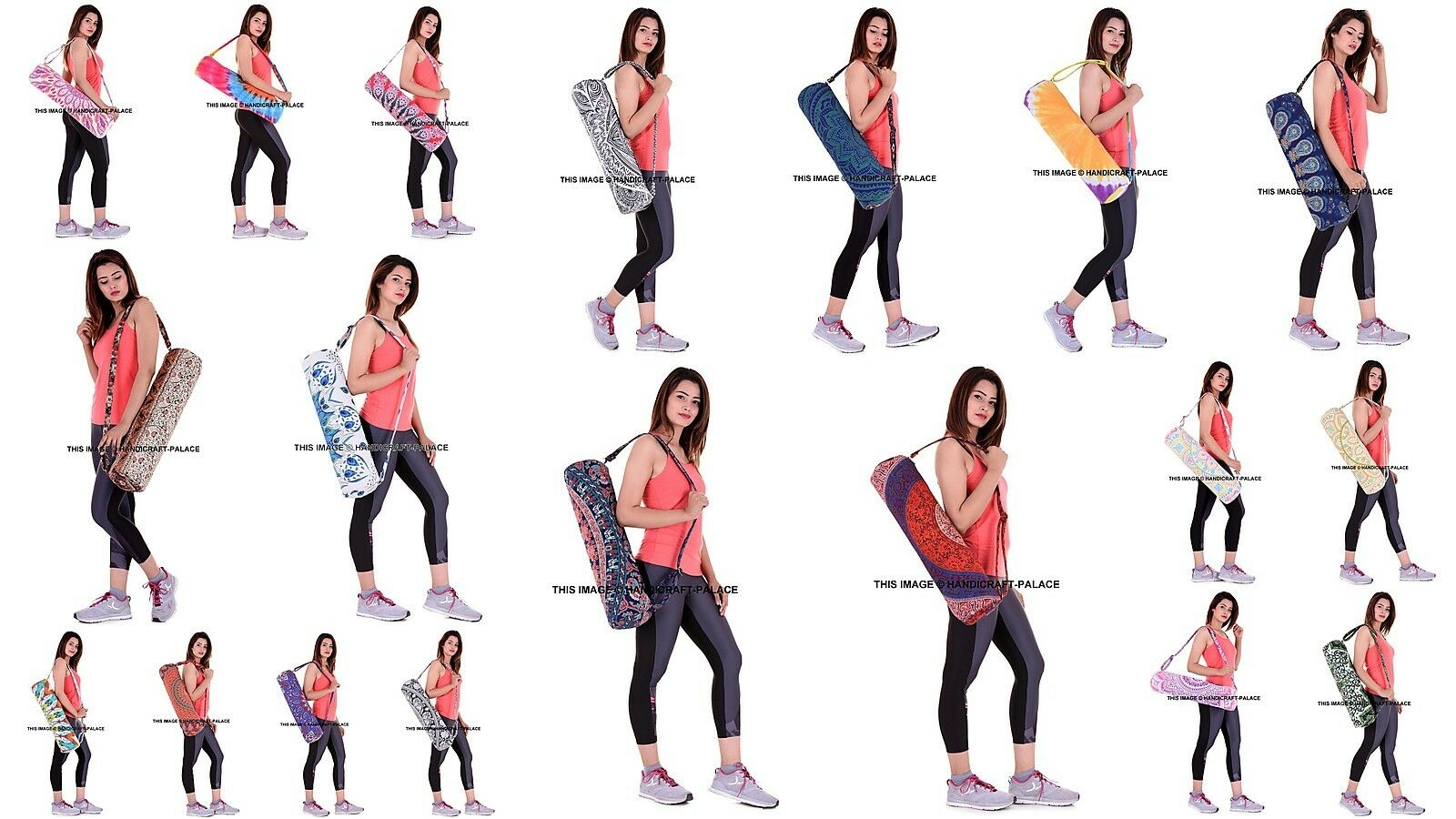 30 LOTS MANDALA YOGA MAT CARRY BAG SHOULDER STRAP INDIAN CARRIERS GYM YOGA BAG