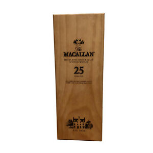 Macallan 25 year scotch whiskey wooden box only gift decoration collectible