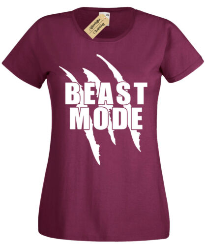 Beast Mode T-Shirt Damen Fitnessstudio Bodybuilding Motivation Training Workout