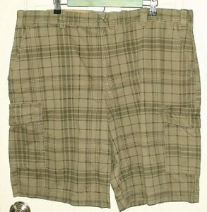 Men's Clothing Adaptable Nwt Izod Mens Size 42 Green/brown Cargo Shorts 42-14750 To Have A Long Historical Standing Shorts