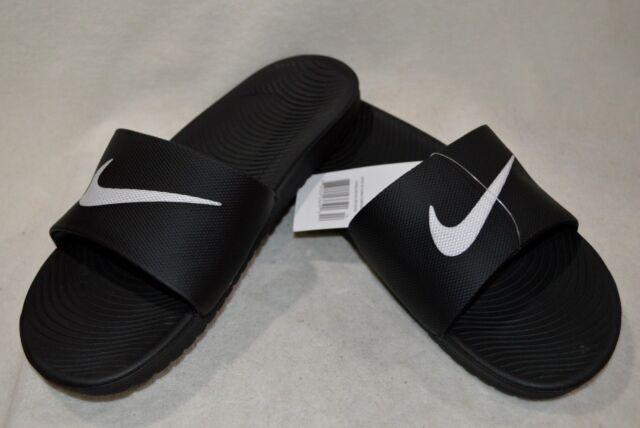 41cbe8741a691c Nike Men s Kawa Black White Slide Sandals-Size 7 8 9