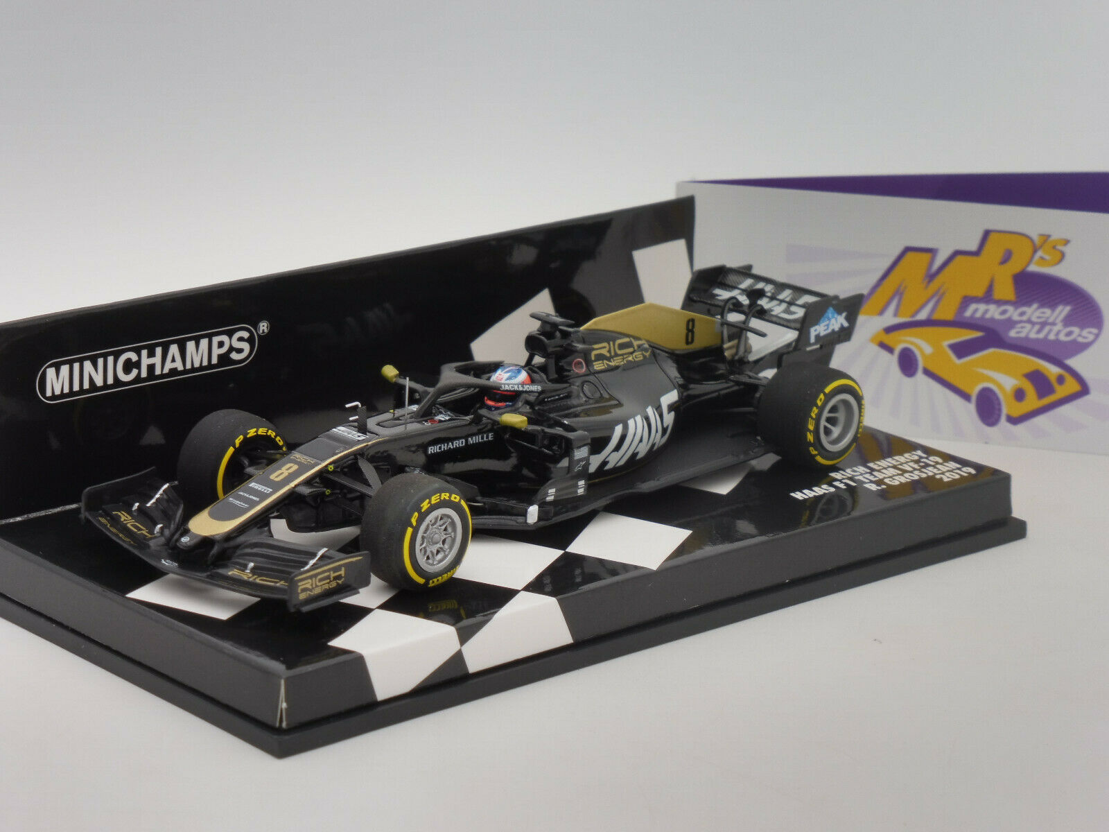 Minichamps 417190008   Rich Rich Rich Energy Haas F1 Team 2019 No. 8   R. Grosjean   1 43 140