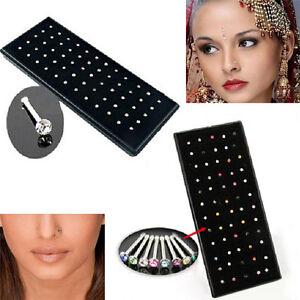 40PCS//Set Nose Ring Bone Stud Stainless Steel Body Piercing Jewelry Women vO