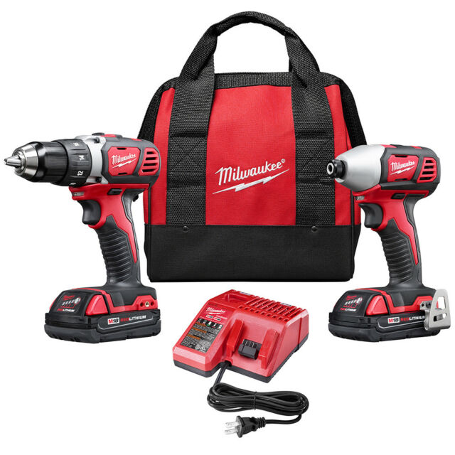 milwaukee m18 18v li-ion 2-tool combo kit 2691-22 reconditioned |