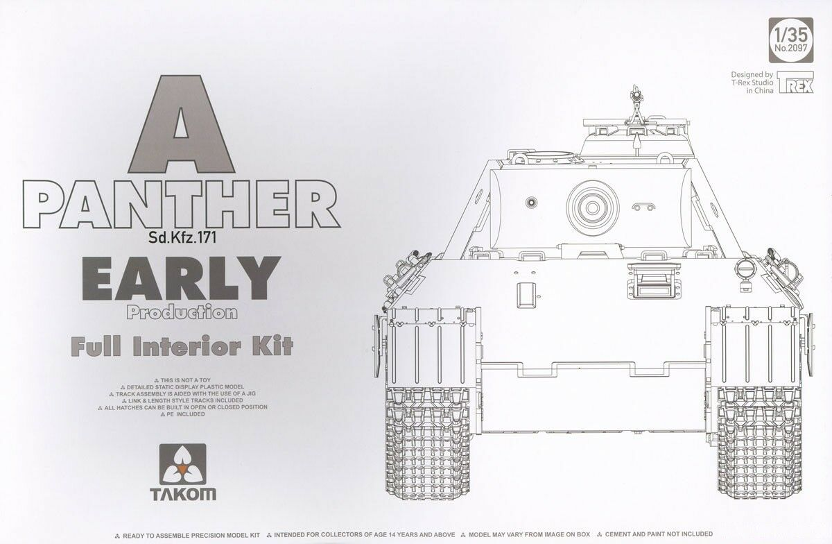 TAKOM PANTHER A SD.KFZ.171 EARLY PROD.FULL INTERIOR 1 35 2097