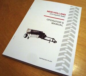 Details about New Holland 276 Hayliner Baler Operator's Owner's Manual Book  NH