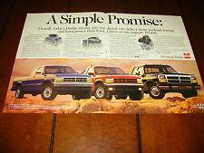 1992 DODGE RAM V-8 / 5.9 CUMMINS DIESEL TRUCK  ***ORIGINAL 2 PAGE AD***