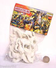 1 Bag American Civil War 8 Pc White Horse Cavalry Set Playset Figure Diorama