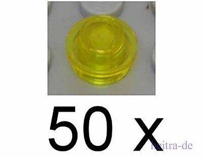 Lego 50 x Platte 1x1 rund 4073  transparent gelb