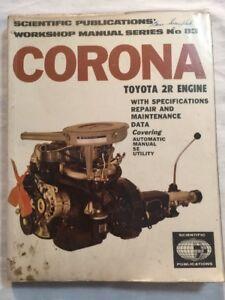 corona toyota 2r engine workshop manual no 83 soft cover ebay rh ebay com au Toyota 5R Engine Specifications Toyota JZ Engine