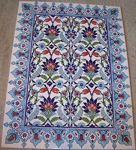 Image Is Loading 32 034 X24 Turkish Raised Iznik