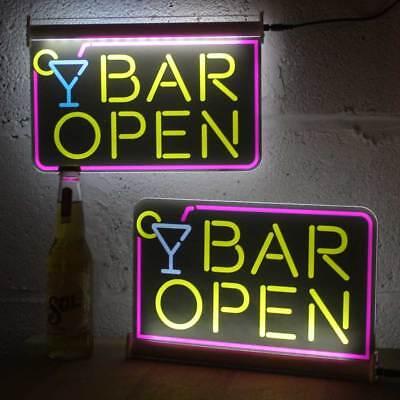 Home Bar Neon Sign Effect Light up Gin Corner Sign Led Man Cave Gin Bar Sign