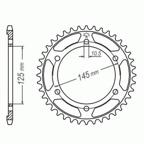 DID Kettensatz Yamaha TDM 850 91-96 EXTRA verstärkt Nietschloss 3VD