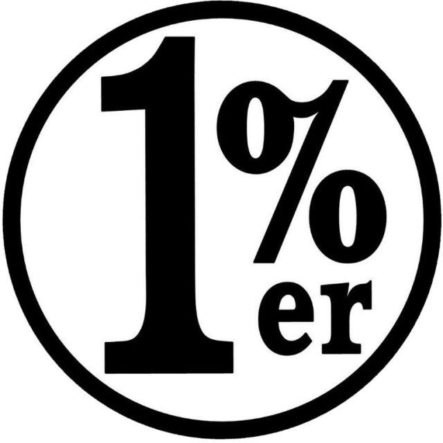 1% ER HELMET STICKER BUMPER STICKER ROUND HARD HAT STICKER HELMET STICKER LAPTOP