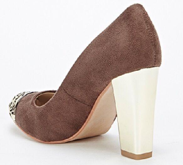 Cut Out Front Suedette Heels shoes size 5 - BARGAIN
