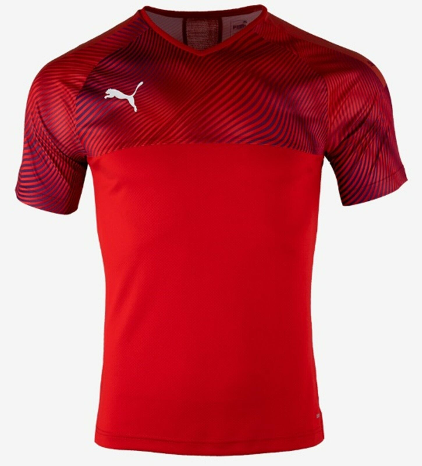 PUMA Men Cup Training Shirts S S Run Dry-Cell Jersey Red Tee Top Shirt 70406601