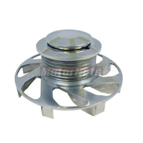 Alternator Pulley Fan S//BBC CHEVY 350 454 GM Billet Aluminum Serpentine 6 GROOVE