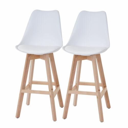 HELLE jambes assise simili cuir 2x Tabourets de bar Vaasa t501 blanc