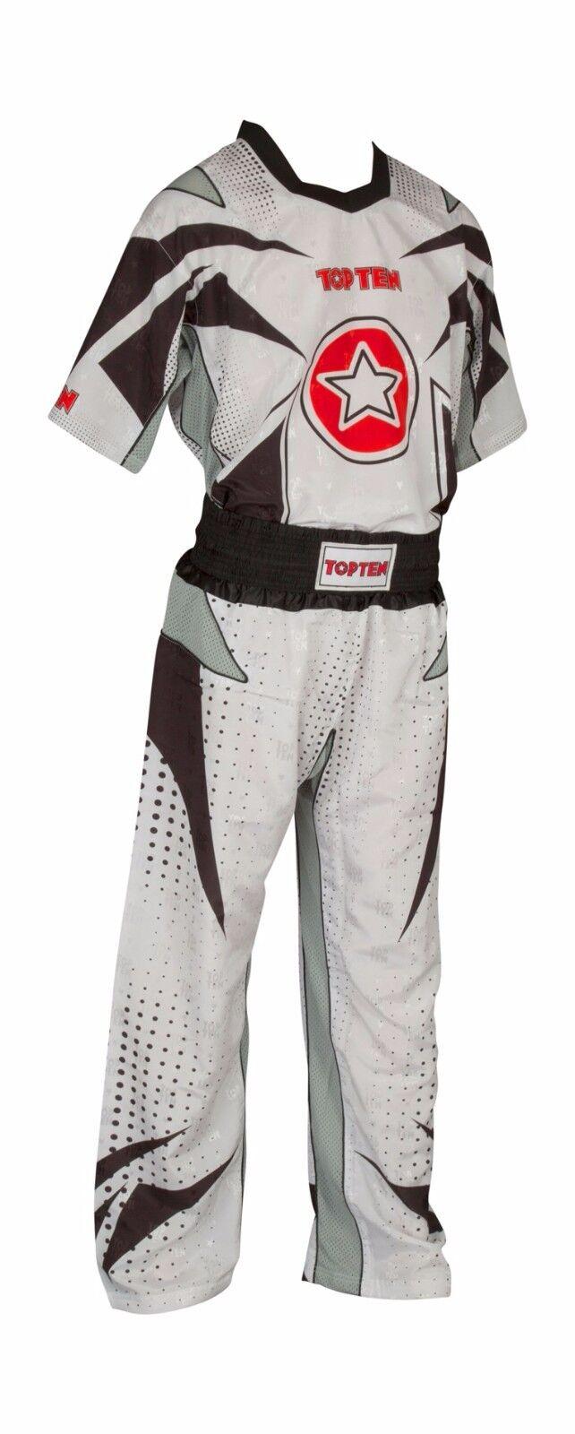 Kickbox - Uniform TOP TEN  FUTURE , 6 untersch. Farbkombinationen