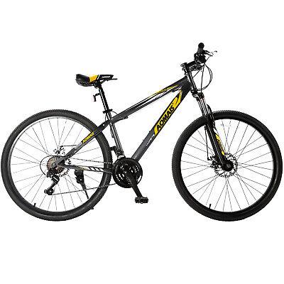 """27.5"""" Mountain Bike Hybrid Bike 21 Speeds & Full Suspension & Shimano Grey"""