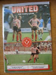 28021984 Sheffield United v Plymouth Argyle  No Apparent Faults - <span itemprop=availableAtOrFrom>Birmingham, United Kingdom</span> - Returns accepted within 30 days after the item is delivered, if goods not as described. Buyer assumes responibilty for return proof of postage and costs. Most purchases from business s - Birmingham, United Kingdom