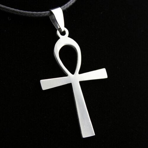 Large ANKH Cross Pendant  Leather 50cm Necklace Egyptian Symbol of Life NEW