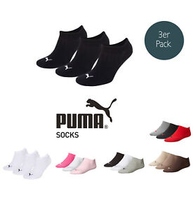 Puma-Socks-Invisible-Sneakers-Trainers-Ladies-Men-039-s-3er-Pack-Sizes-35-46-Color