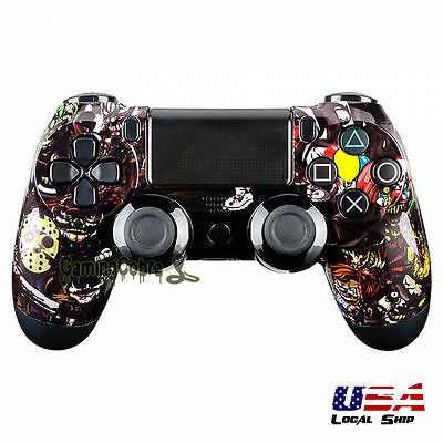 Scary Party Top Front Housing Shell Faceplate Repair Mod for Sony PS4 Controller