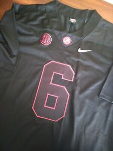 NWOT DeVonta Smith #6 Black Alabama Crimson Tide Football Jersey L ...
