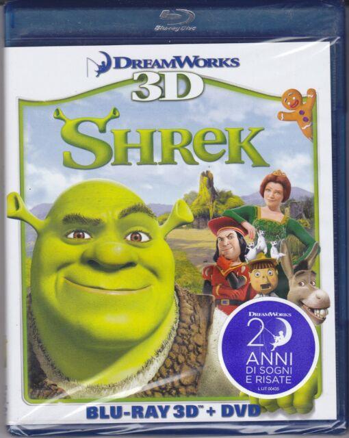 Blu-ray 3D + Dvd DreamWorks **SHREK PRIMO UNO 1** nuovo 2001