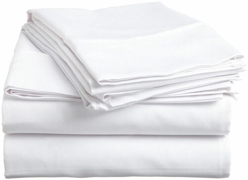 NEW 800 THREAD COUNT BED SHEET SET 100/%EGYPTIAN COTTON CAL-KING SIZE WHITE COLOR