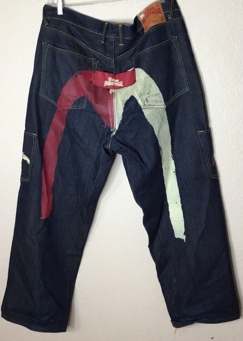Evisu Heritage Jeans Size 40 Hip Hop Style